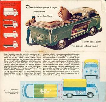 Reclame voor de nieuwe pick-up, 1952