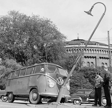 Samba ramt lantaarnpaal, Stockholm 1956
