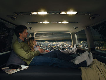 Multivan als hotelkamer