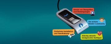 Dolphin Secure Kinderschutzsoftware - einfach anklicken!