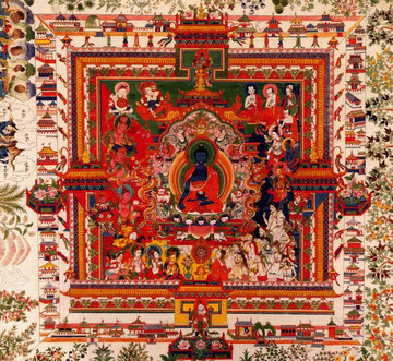Mandala du Bouddha de la médecine