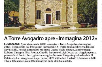 Giornale di Brescia 14/09/2012