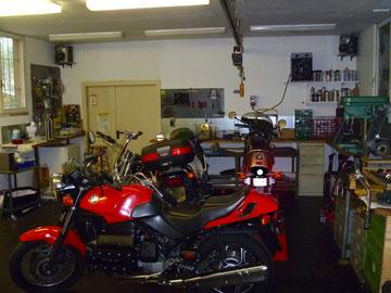 Die Werkstatt hinten
