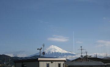 サロンからの富士山ビュー!
