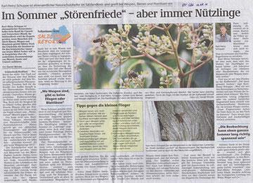Volksstimme Schönebeck vom 11. August 2011