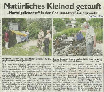 Generalanzeiger Schönebeck vom 1. Juli 2012
