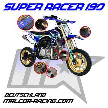 Malcor Pitbike Super Racer 190 , Esratzteile Pit Bike , Pitbike Shop