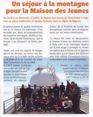 Lettre Municipale de St Astier n°21 - octobre 2009