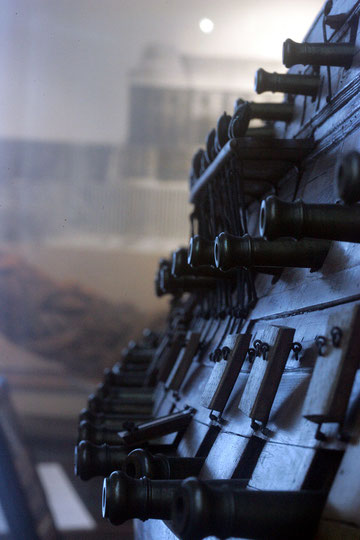 Document 1_Muraille en chêne et artillerie du vaisseau français de 74 (canons), Musée de la Marine, Paris