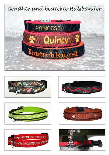 Beispiele Hundehalsbänder