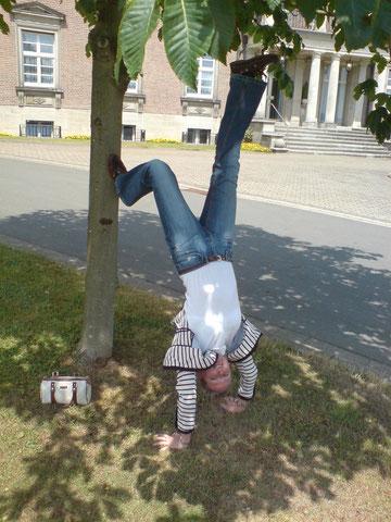 Annelie in Essen, im Park der Villa Hügel
