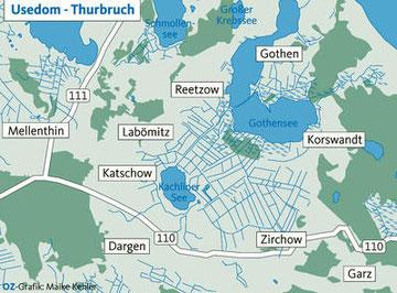 Das Thurbruch mit seinen Gemeinden im Inselsüden.