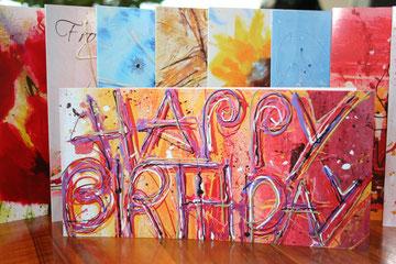 Kunst Geburtstagskarte oder Grusskarte von Ursula Vonhuben printed in Aarau