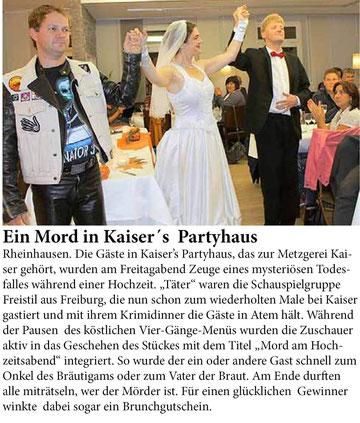 Breisgauer Wochenbericht 24.10.2012