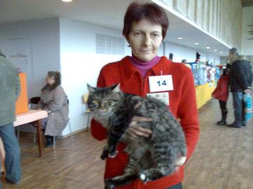 А это наш кот Адонис и его хозяйка Ирина