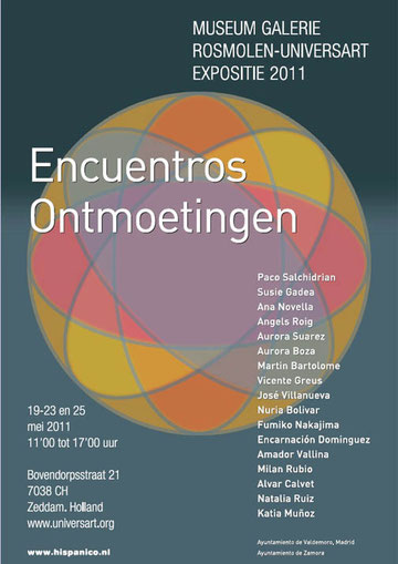 "Amador Vallina at Expo Hispanico Art ""Encuentros / Ontmoetingen"", Zeddam, Netherlands"