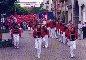 Die Stadtpeifer zum Kirschfestumzug in Naumburg
