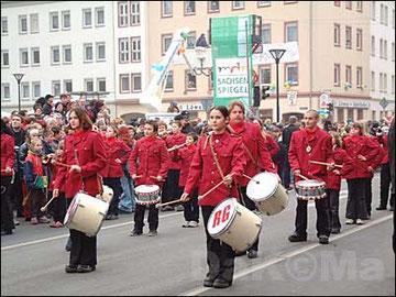 Der Fanfarenzug in Eilenburg 2003
