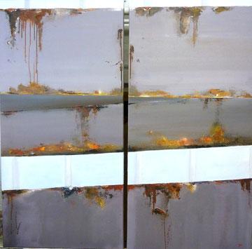 Paysage de rouille & son double par Agnès Bressler