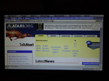 Firebee im Internet mit Netsurf