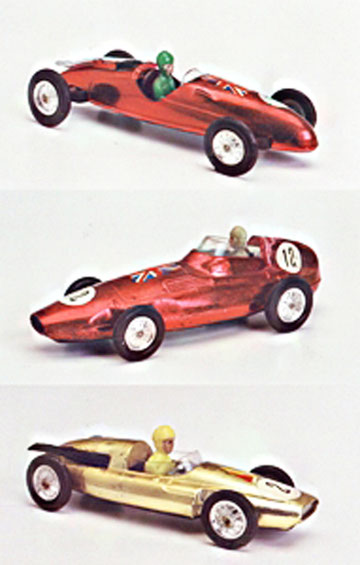 De arriba abajo: Cooper Norton, Vanwall F1 y Cooper 1500 cc.