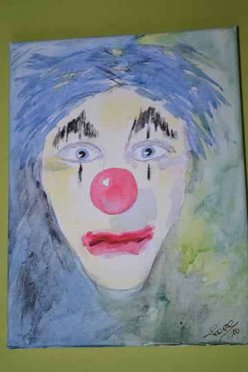 Clown in Melancolie!     H: 24cm   B: 18cm  zu verkaufen     170.- SFr.  2010