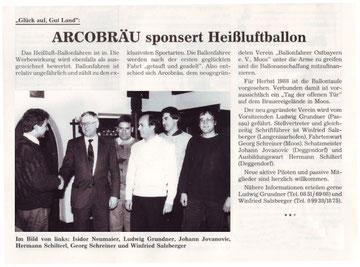Die Gründung der BallonfahrerOstbayern war im September 1988
