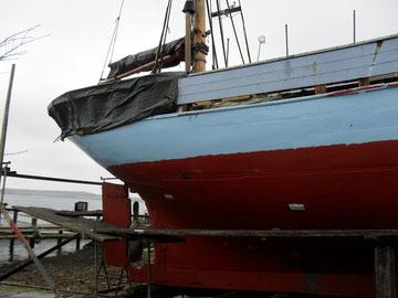 Werft 2012 es sind 6 Planken (fast 50 meter) ausgewechselt worden