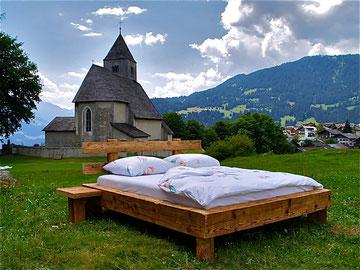 Bett aus Fichte - Altholz