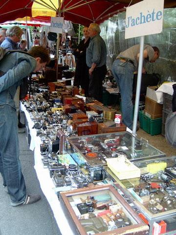 Hier bietet Händler aus ganz Europa ihre Ware an...