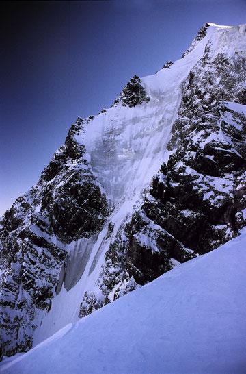 Trotz Eisschwund immer noch eine tolle Tour - die Ortler-Nordwand!