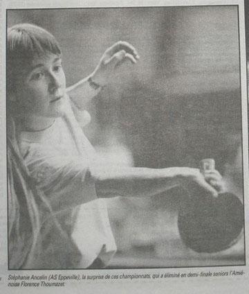"""Stéphanie Ancelin vice championne de Picardie """"dames"""" en 1996"""