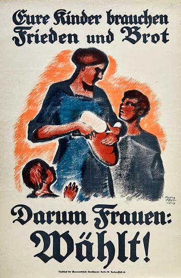 Wahlplakat Frauenstimmrecht 1919
