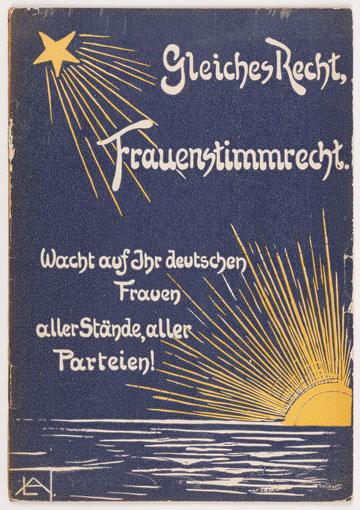 Broschüre des Vereins für Frauenstimmrecht von 1907