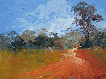 Bush Track in oils