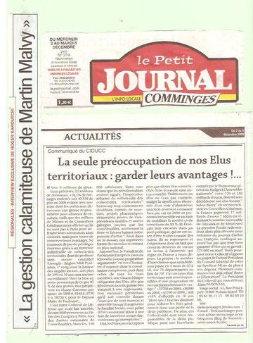 article paru dans le Petit Journal