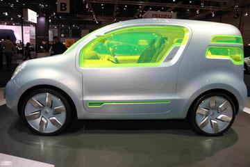 Renault Z.E. Concept Car auf der AMI 2009 in Leipzig, Seitenansicht