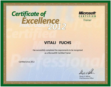 MCT 2012 - Microsoft Certified Trainer