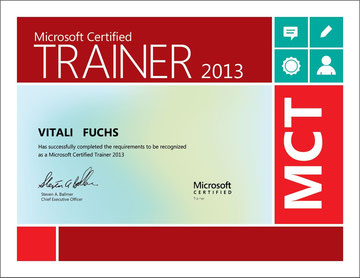 MCT 2013 - Microsoft Certified Trainer