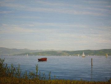 Bodensee bei Immenstaad (Öl auf Leinwand, 30 x 40 cm, verkauft)