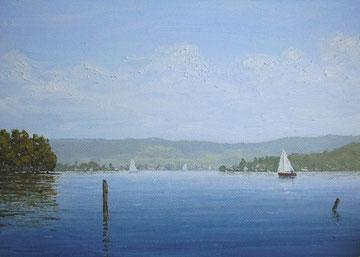 In Steckborn (Öl auf Leinwand, 14 x 20 cm, verkauft)