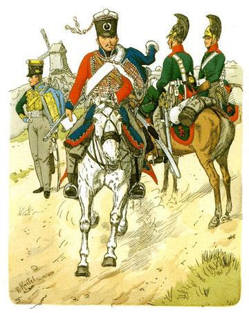 Russische Truppen (Richard Knötel).