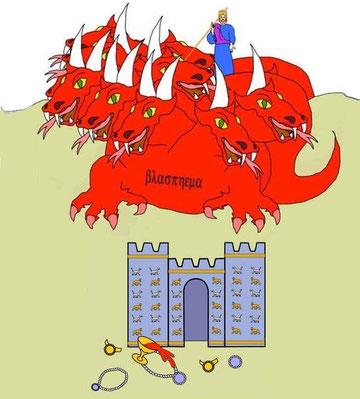 Les 10 cornes qui représentent tous les dirigeants de ce monde vont bientôt s'en prendre à Babylone la grande, la dépouiller, la dévaster et la détruire complètement comme par le feu. Ces dirigeants ne font qu'obéir à la bête d'Apocalypse 17.