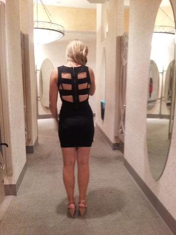 Rücken meines Kleides, muss natürlich einen anderen BH anziehen, damit man die Träger nicht sieht!