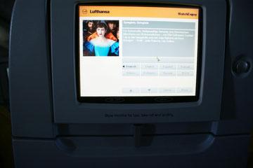 Bildschirm im Flieger