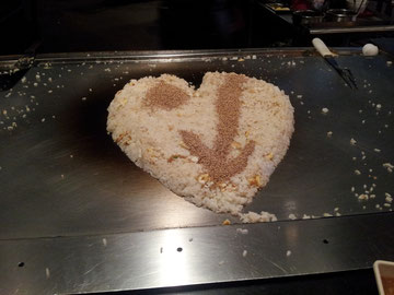 Als er gekocht hat, hat er ein Herz gemacht, süß oder? :-)