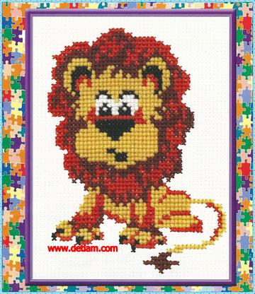 """Схема для вышивания: """"Лев"""" на сайте www.detiam.com"""