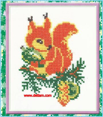 """Схема для вышивания: """"Белка"""" на сайте www.detiam.com"""