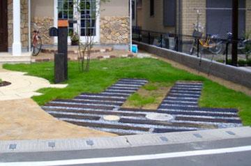 外構リフォーム工事における駐車スペース