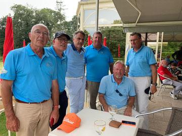 L'équipe seniors a joué au golf de Cholet le 27 juin 2021 pour les qualifications.